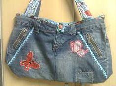 Resultado de imagem para bolsas My Jeans, Denim Bag, Balenciaga City Bag, Casual Shorts, Shoulder Bag, Tote Bag, Sewing, Outfits, Clothes