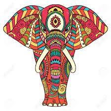 Resultado de imagen para elefante dibujo hindu