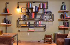American retro vintage industrial style plumbing pipe racks bookcase bookshelf creative personality-in Other Metal Furniture from Furniture on Aliexpress.com | Alibaba Group