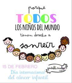 15 de febrero. Día internacional del cáncer infantil www.quieretemucho.com