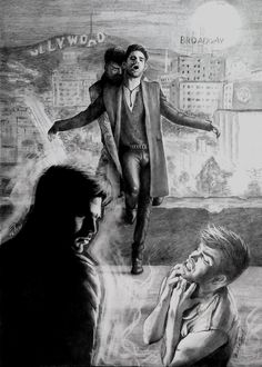 """""""City of vampires, city of sin"""" ~ Fan Art by AllaFehu inspired by Adam Lambert's new single track 'Ghost Town' from the new album ~ The Original High"""