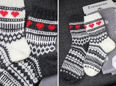 Sweet things: Morsiamen ja sulhasen sukat Diy Crochet And Knitting, Knitting Stitches, Knitting Socks, Hand Knitting, Knitting Patterns, Marimekko Fabric, Stocking Tights, Wool Socks, Kids Socks