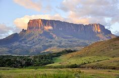 "A tepui or tepuy is a table-top mountain or mesa found in the Guiana Highlands of South America, especially in Venezuela. The word tepui means ""house of the gods"" in the native tongue of the Pemon, the indigenous people who inhabit the Gran Sabana."