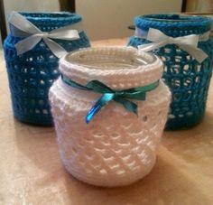 lekker even een avondje haken xd Diy Crochet And Knitting, Crochet Home, Crochet Winter, Crochet Jar Covers, Crochet Projects, Knitting Projects, Sweet Home Design, Crochet Embellishments, Fun Crafts To Do