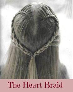 Braids for Kids for Valentine's Day. #braids #hearts