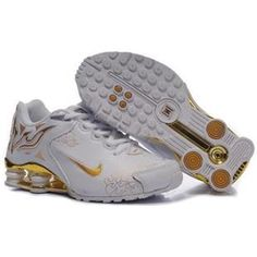 104265 046 Nike Shox R4 White Gold J09099 Nike Shox For Women, Mens Nike  Shox