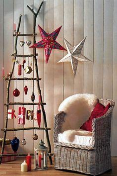 árbol y estrellas muy originales para decorar en navidad