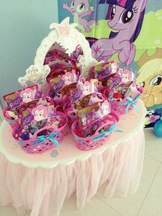 Fun favors at a My little pony birthday party! See more party ideas at CatchMyParty.com!
