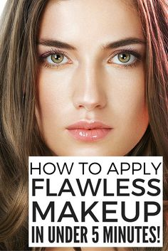 Want to learn how to get flawless makeup in 5 minutes or less? We've got you covered! We've rounded up 5 tutorials that are loaded with fabulous DIY application tips and product recommendations to teach you how to apply foundation, eyeliner, eyeshadow, and blush in a flash while still leaving you time to draw in your eyebrows. The looks in these videos are very natural, so they work for brown eyes, blue eyes, and green eyes, and are perfect for blondes, brunettes, and red heads.