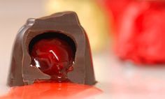 Photo about Chocolate covered cherry that has been bitten into so its juice flows out. Low Carb Chocolate, Sugar Free Chocolate, Chocolate Recipes, Sugar Free Candy, Sugar Free Desserts, Chocolate Covered Cherries, Chocolate Cherry, Brandied Cherries Recipe, Candy Recipes