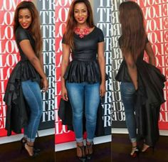 Custom made women peplum top dress by AFROCOLLECTION2015 on Etsy