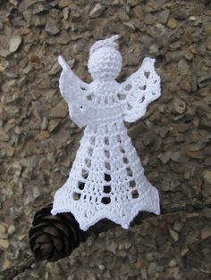 Crochet angel Christmas decoration A17 by InKasTrifles on Etsy