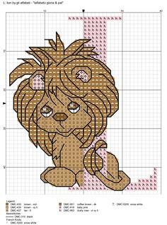 Alfabeto gloria & pat: L = lion