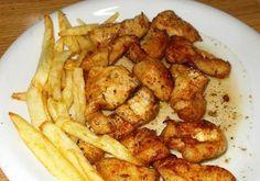 Τηγανιά χοιρινή !!! Greek Recipes, Chicken Wings, Food Processor Recipes, Food And Drink, Potatoes, Favorite Recipes, Meat, Vegetables, Cooking