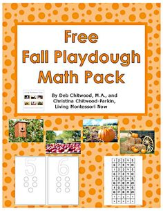 Free Fall Playdough Math Pack