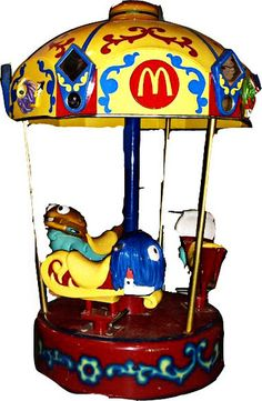 McDonald's Merry Go Round.  They had these inside at some and outside at others.