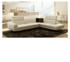 Divani Casa 991 Sectional Sofa in White Leather by VIG Furniture https://furnituregallerynyc.com/product/991-sectional