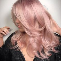 Soft Pink Hair | #colorfulhair #mermaidhair #bluehues #purplehues #colorenvy #voluminoushair #colorfordays #innermermaid #mermaidvibes #hairgoals #hairootd #hairenvy #hairheaven #hairfirst #haireverything #perfecthair #hairwants #hairneeds #hairessentials #everydayhair