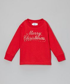 Loving this Red 'Merry Christmas' Tee - Girls on #zulily! #zulilyfinds