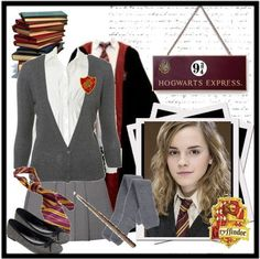 Hermione at Hogwarts :) Harry Potter Uniform, Hogwarts Uniform, Harry Potter Style, Harry Potter Theme, Groundhog Day, Harry Potter Friends, Themed Outfits, Inspired Outfits, Corporate Fashion