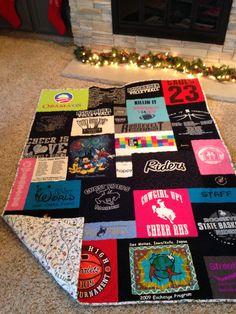 High school graduation, t-shirt quilt