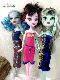 OOAK - handgefertigte Unikate von up4kids  Monster - Fashion Set 39 passend für Ankleidepuppen wie Monster High, Ever After High  Lieferumfang: 3 Teile: