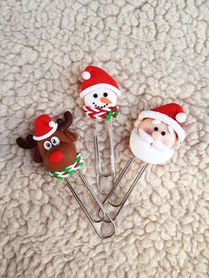 Bookmark Christmas set Santa Claus School Paper clips Paper clips set Moose Snowman Holiday gifts Children's gifts Christmas Christmas decor
