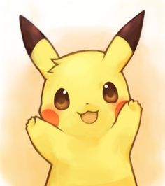 Pikachu. If you ever came in contact with Pokemon, you've fallen in love with Pikachu. He's so cute with the little hair tuft in this image.