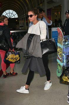 Alicia Vikander Airport Style November 2015: Alicia Vikander in Alexander McQueen sneakers.
