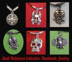 Skull-necklace-vintage-gothic-necklace-Jewelry-Colgante-vintage-calaveras