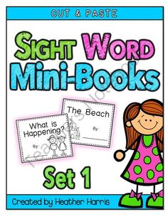 (24 word on  printable TeachersNotebook.com  books from fry Sight Word TeachingMy3 Books  sight Mini