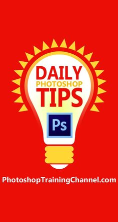 Ge an awesome daily Photoshop tip! Don't forget to follow on Facebook, Twitter and Google Plus to get the Daily Tips on your Feed!