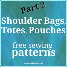 Wesens-Art: Shoulder Bags, Totes, Pouches Part 2 / Taschen 2
