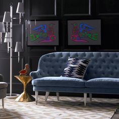 Jonathan Adler Foster Sofa: Posh your parlour Decor, Elle Decor, Sofa, Modern Furniture, Flooring, Furniture, Interior Design, Home Decor, Upholstery