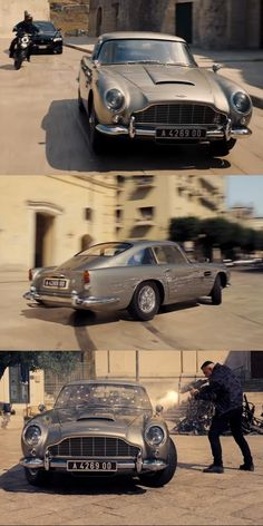 Aston Martin Takes A Beating In James Bond No Time To Die Trailer. Four Aston Martins will feature in the new James Bond movie No Time to Die. James Bond Cars, New James Bond, James Bond Movie Posters, James Bond Movies, Aston Martin Db10, New Aston Martin, Daniel Craig Bond, Star Wars, Iconic Movies