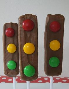 Traffic Light Chocolate Treats for kids