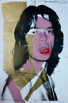 "ANDY WARHOL "" MICK JAGGER 1975 "" ORIGINAL POSTER"