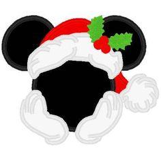 CHRISTMAS MICKEYMOUSE SANTA CLIP ART