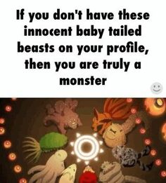 Young tailed beasts