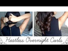 How to: Heatless Overnight Curls - YouTube