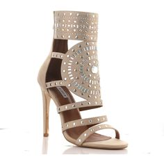 27d2a47c4941 Cape Robbin BLAIRE-5 Strappy Caged Stiletto Heel Stud Detail Ankle ...