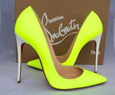 Christian Louboutin Bicolor Fluo Leather So Kate 120 36.5 Yellow Pumps. Get the must-have pumps of this season! These Christian Louboutin Bicolor Fluo Leather So Kate 120 36.5 Yellow Pumps are a top 10 member favorite on Tradesy. Save on yours before they