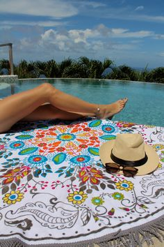DESCRIPTION 10% of the net profit from this towel goes to charities that support our oceans and wildlife. Free domestic shipping and on international orders over $125. Vivid blossoms of dreamy color a