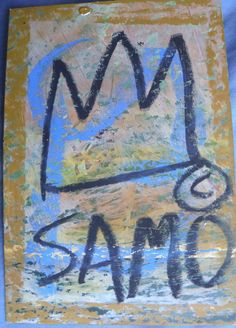 authentic original SAMO Basquiat Street Art Graffiti postcard 1980 vintage COA #PopArt
