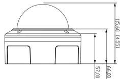Vandal Proof Dome : VD-501Af Vandal Proof 5 Megapixel Day & Night Network Dome Camera