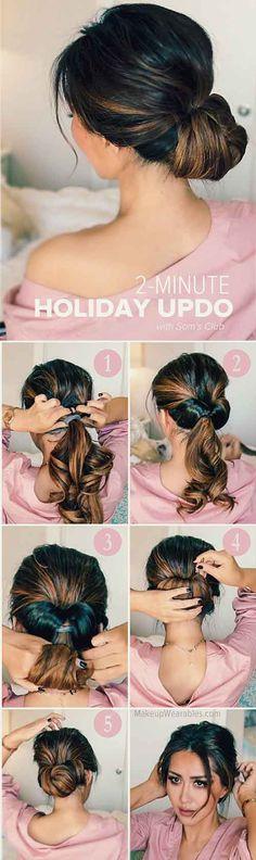 20 Stunningly Easy DIY Messy Buns- messy hairstyles for saree messy hairstyles  for long hair | messy hairstyles  anime | messy hairstyles  up dos | messy hairstyles  boho | casual messy hairstyles #hairstyles #messyhairstyles Five Minute Hairstyles, Easy Work Hairstyles, Holiday Hairstyles, Elegant Hairstyles, Braided Hairstyles, Updo Hairstyle, Wedding Hairstyles, Hairstyle Ideas, Fashion Hairstyles