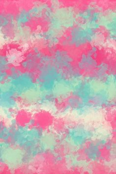 Pinks n teals water color splashes