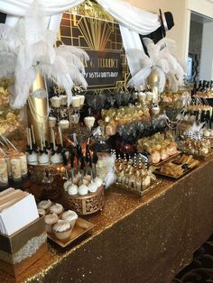 Great Gatsby Party Decoration Ideas 03 If the wedding appears stunning, a cheesy theme is the quickest way to turn the ideal day of your life into a fucking joke. The best thing about having a destination wedding is that the majority of… Great Gatsby Party Decorations, Great Gatsby Themed Party, Great Gatsby Wedding, Wedding Ideas, Party Wedding, Wedding Table, 1920s Wedding, 18th Birthday Party Ideas Decoration, 1920 Theme Party