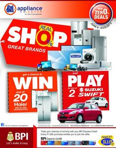 SM Appliance Shop, Win and Play Promo