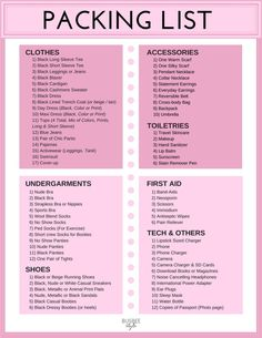 Packing for europe, spring travel, packing list, printable packing list Travel Packing Checklist, Printable Packing List, Packing List Beach, Packing For Europe, Packing List For Vacation, Packing Tips, Travel Essentials, Study Abroad Packing, Carry On Bag Essentials